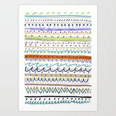 Cool Pattern. patterns, illustration, Art Print
