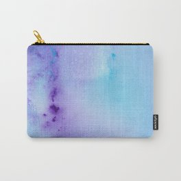 Abstract Watercolor Art Blue And Purple Modern Painting Carry-All Pouch