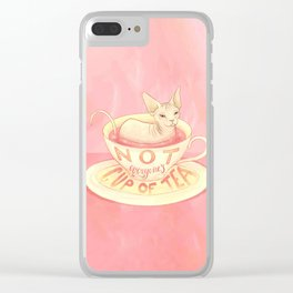Not everyone's cup of tea - Sphynx Cat Clear iPhone Case
