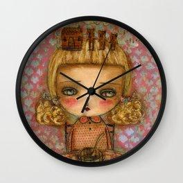 "Goldilocks thinks ""It's for me!"" Wall Clock"