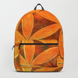 fiore arancio Backpack