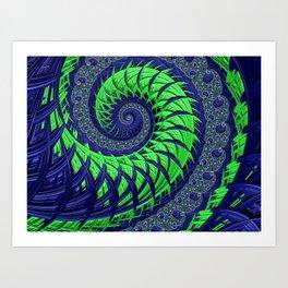 Seahawks Spiral Art Print