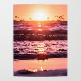 Mission Bay Shoreline in San Diego, California Poster