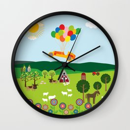 Flying Car  Wall Clock