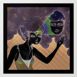 crazy witch Art Print