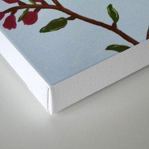 Robin on Plumb Tree Canvas Print