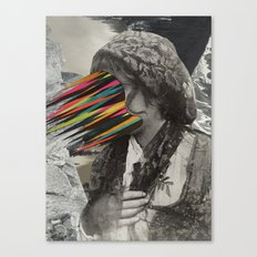 Portrait of a sicilian girl (2014) Canvas Print