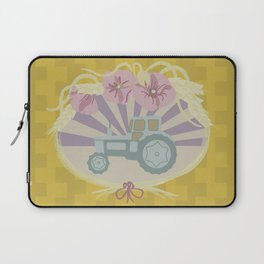 I Heart Tractors - mustard Laptop Sleeve