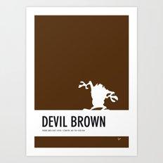 No16 My Minimal Color Code poster tasmanian devil Art Print