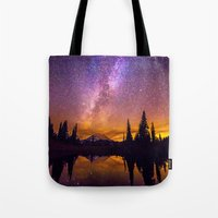 milky way Tote Bags featuring Milky Way by EclipseLio