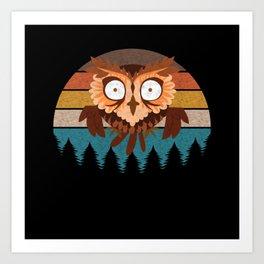 Cute Owl T-Shirt Art Print