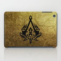 assassins creed iPad Cases featuring Creed Assassins Grunge Logo by DavinciArt