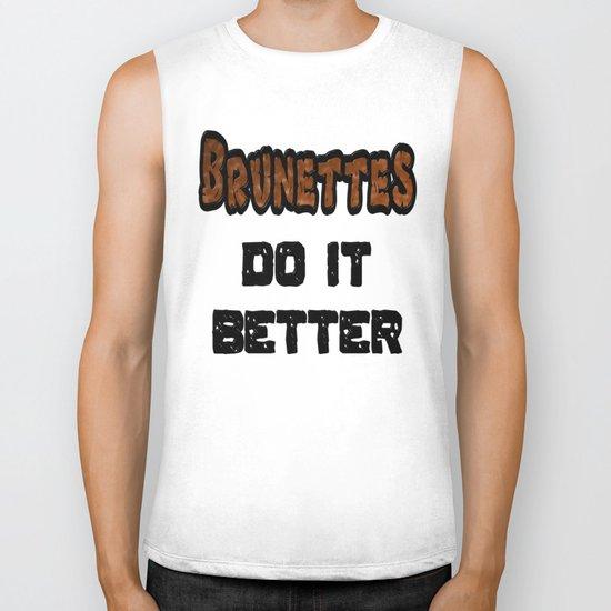 Brunettes Do It Better Biker Tank