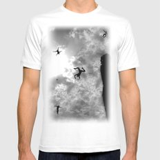 downfall White Mens Fitted Tee SMALL