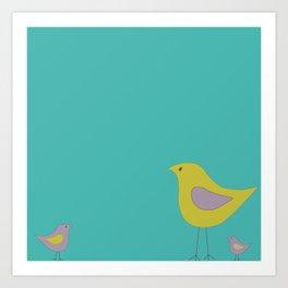 Simple Vector Birds Art Print
