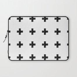 Watercolor Swiss Cross (White) Laptop Sleeve