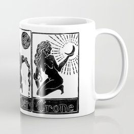 Maid, Mother, Crone - Lino Print Coffee Mug