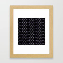 Endless Knot pattern - Silver and Amethyst Framed Art Print