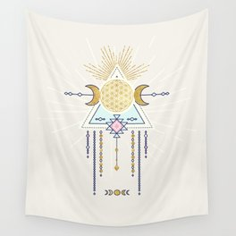 Magical Lunar illustration no4 Wall Tapestry