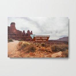 Fisher Towers, Utah Metal Print