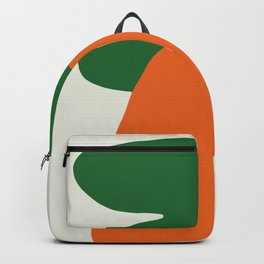 Abstract Print, Carrot, Mid Century Modern Wall Art Backpack