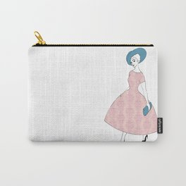 Parisienne - Pink chandelier, blue hat Carry-All Pouch