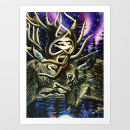 Battle in the North Art Print