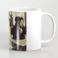 degas Mugs featuring Talking Paintings - Degas by madraccoon