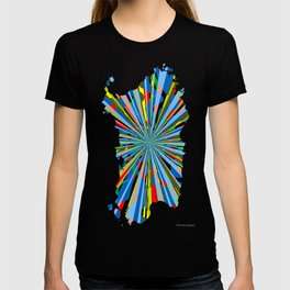 Sardinia, burst map T-shirt