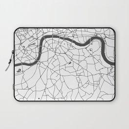London White on Gray Street Map Laptop Sleeve