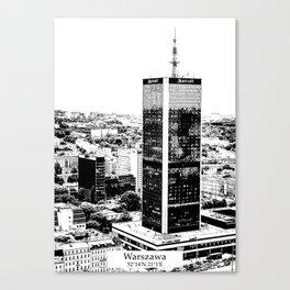 Warszawa minimal city #warsaw #warszawa Canvas Print