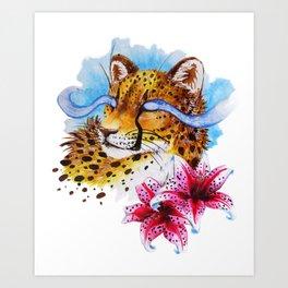 Magic Leopard Art Print