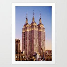 Empire State Building Surreal New York Skyline Art Print