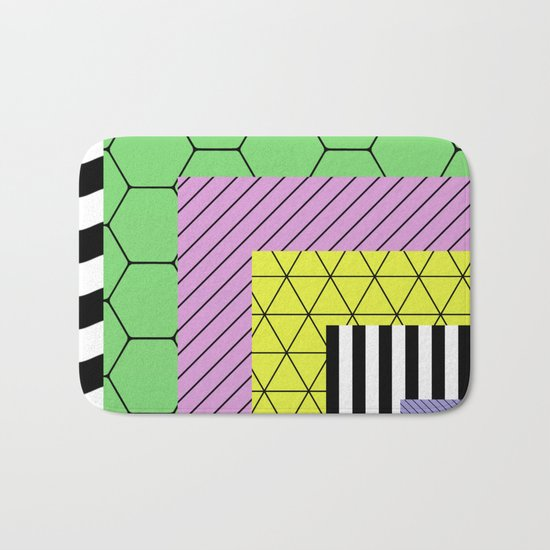 Go Bigger (Abstract, geometric, pastel designs) Bath Mat