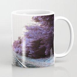 Train Tracks : Violet Blue Dreams Coffee Mug