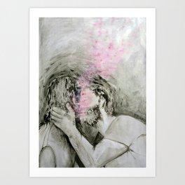 A kiss Art Print