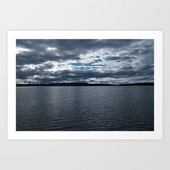 Clouds Over Yellowstone Lake Art Print