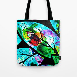 The connection between multicolored atoms Tote Bag