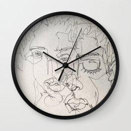 Blind Contour Wall Clock