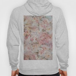 Vintage elegant blush pink collage floral typography Hoody