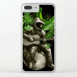 Astropical Strum Clear iPhone Case