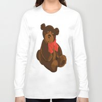 teddy bear Long Sleeve T-shirts featuring teddy bear by ArtSchool