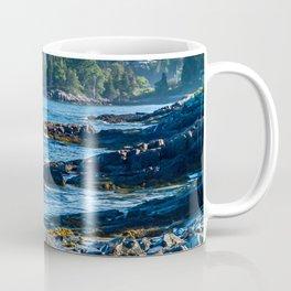Costal Vibes // Northeastern Maine Rocks and Ocean Photograph Coffee Mug