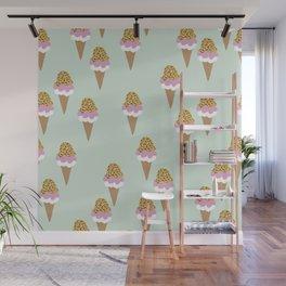 Leopard Mint Ice Cream Gelato Design Patern Print Wall Mural
