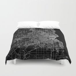 milwaukee map Duvet Cover