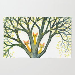 Odessa Whimsical Cats in Tree Rug