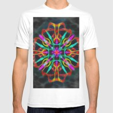 Vibrant shield decoration MEDIUM Mens Fitted Tee White