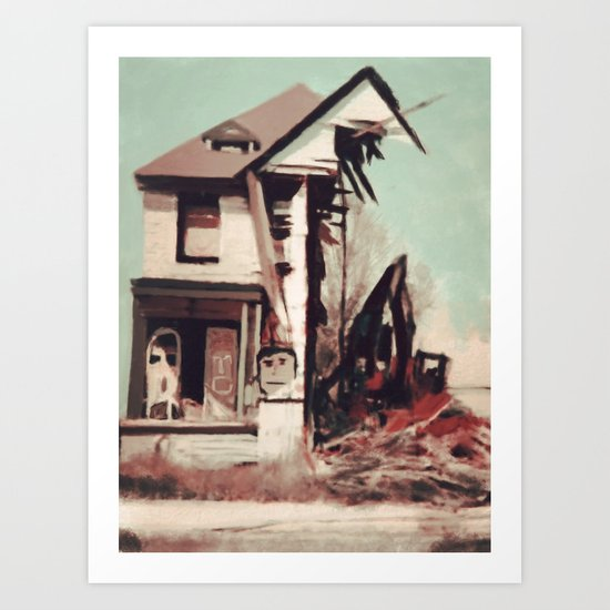 Demolition Art Print