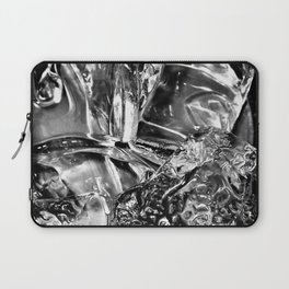 Black White Ice Abstract Laptop Sleeve