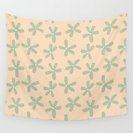Green & Pink Floral Wall Tapestry